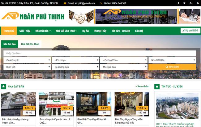 Thiết kế web bất động sản hoặc cho dự án, kết hợp với SEO